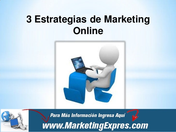 3 Estrategias de Marketing          Online