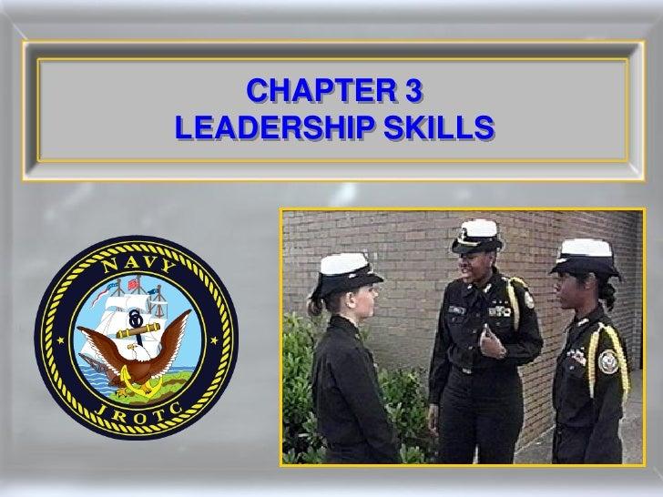 CHAPTER 3 LEADERSHIP SKILLS