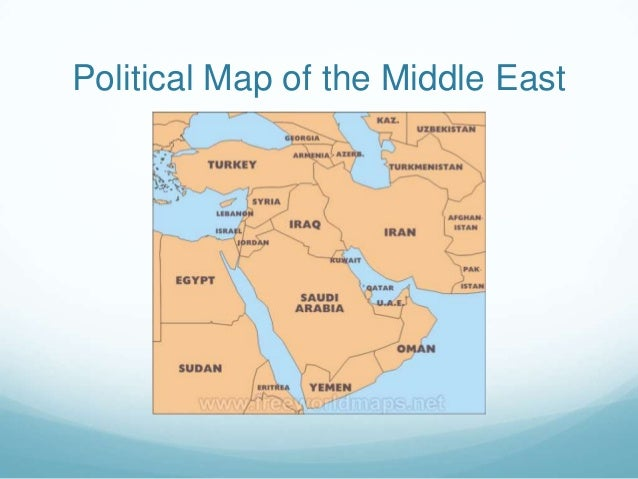 Modern Geo of The Middle East
