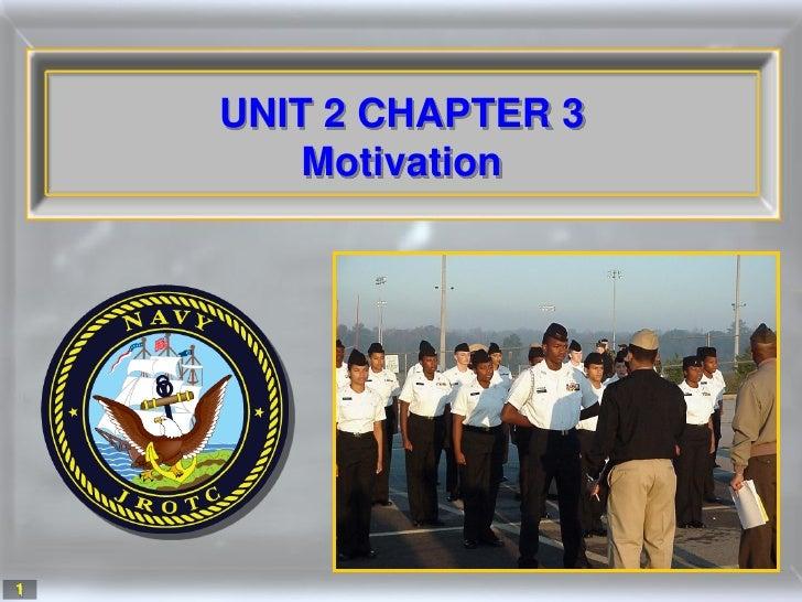 UNIT 2 CHAPTER 3         Motivation     1