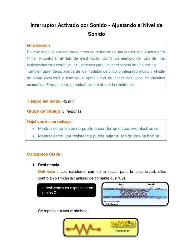 Interruptor Activado por Sonido - Ajustando el Nivel de                                    SonidoIntroducciónEn este capít...