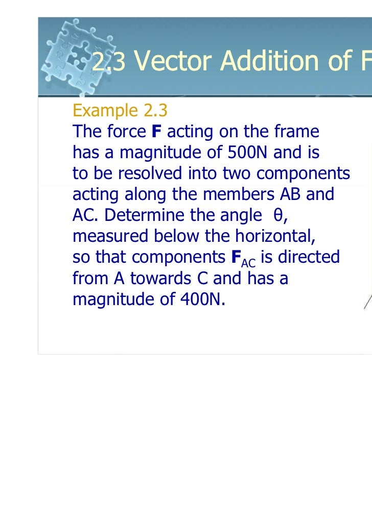 6161103 2 3 Vector Addition Of Forces