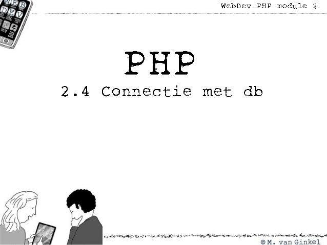 2.4 connectie met db