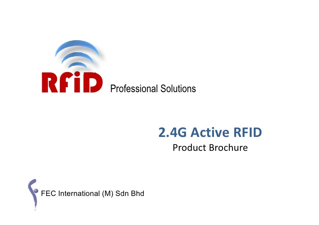 RFiD               Professional Solutions                                    2.4G Active RFID                             ...