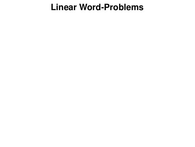 Linear Word-Problems