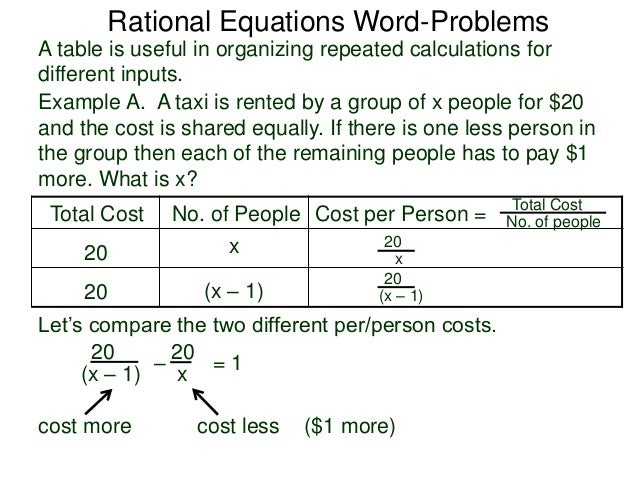 2 5 rational equations wordproblems – Algebraic Word Problems Worksheet