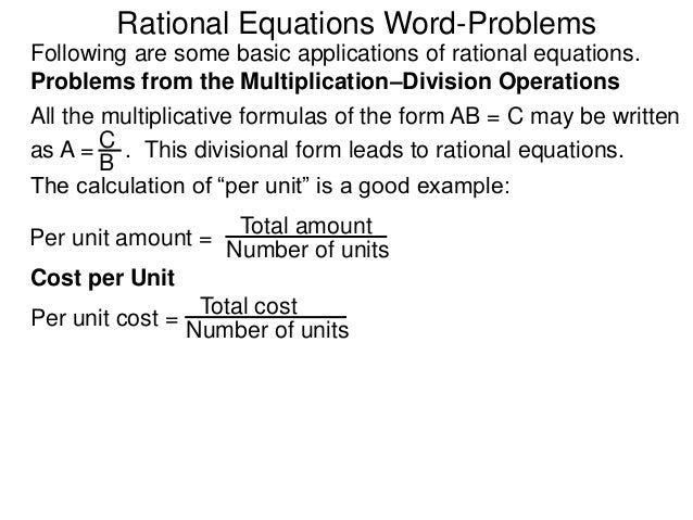 rational equations word problems pdf