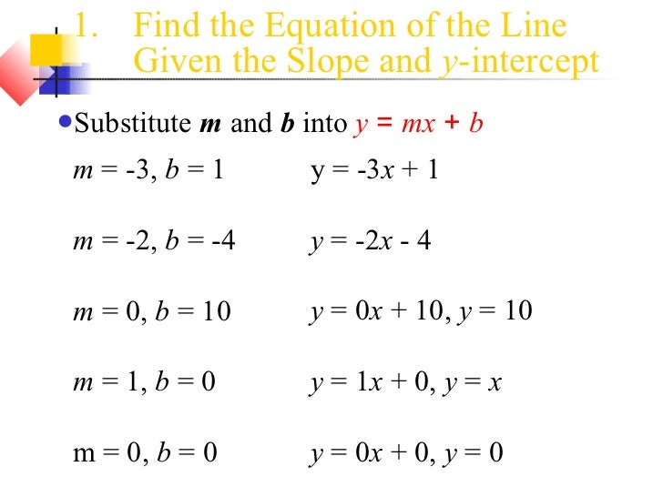 writing equations of lines Finding the equation of a line given two points - practice problems page 1 of 4 write the answer 2 find the equation of the line passing through the points (3, 8) and (-2, 1) find the equation of the line passing through the points (11, -2) and (2.