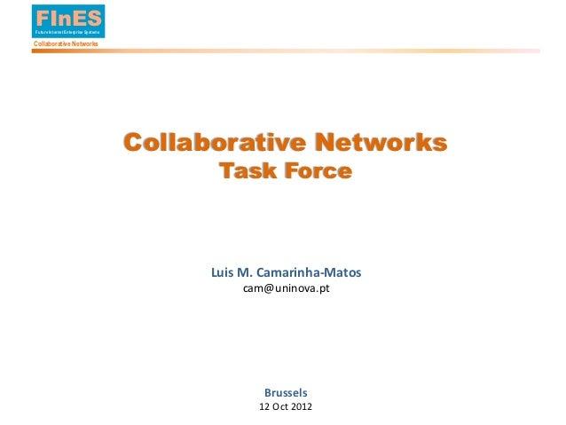 FInES        Future Internet Enterprise Systems        Collaborative Networks                                             ...