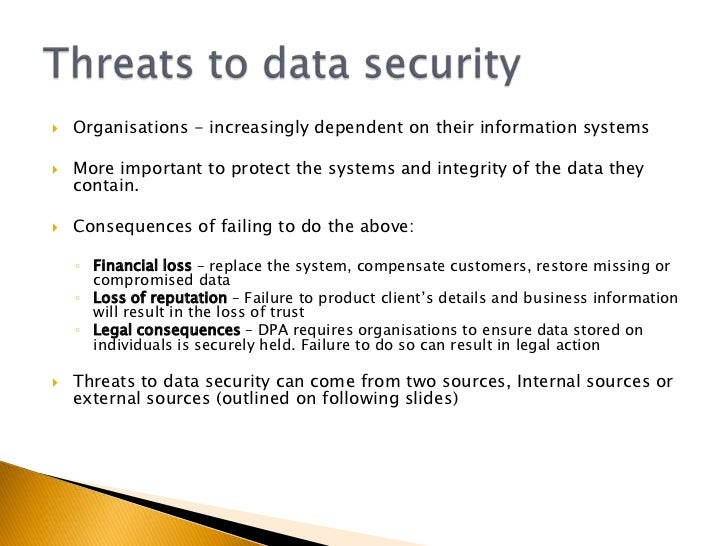2 5 Safety And Security Of Data In Ict Systems