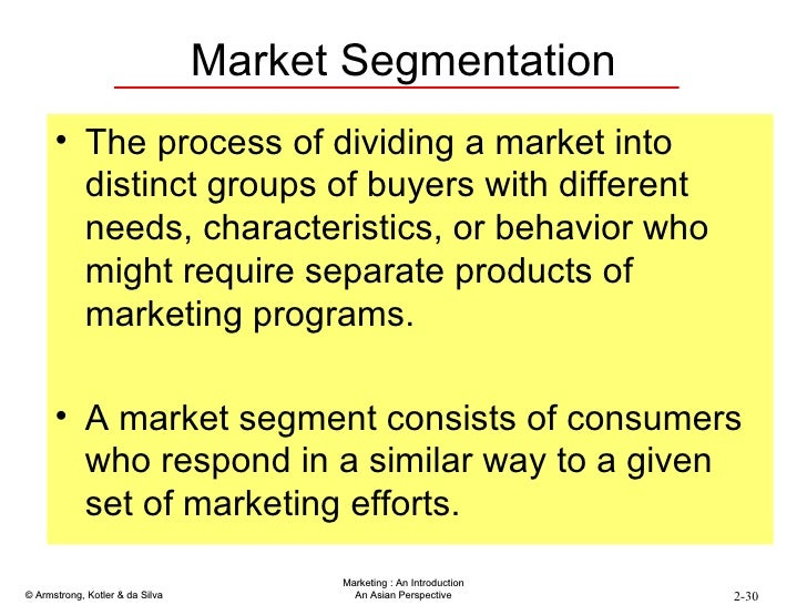 the role of market segmentation in guiding Addressing labour market segmentation: the role of labour law centre for business research, university of cambridge working paper no 446 by simon deakin.