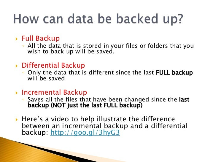 2.6 backup and recovery