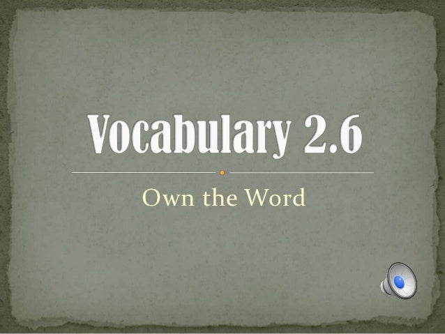 Own the Word