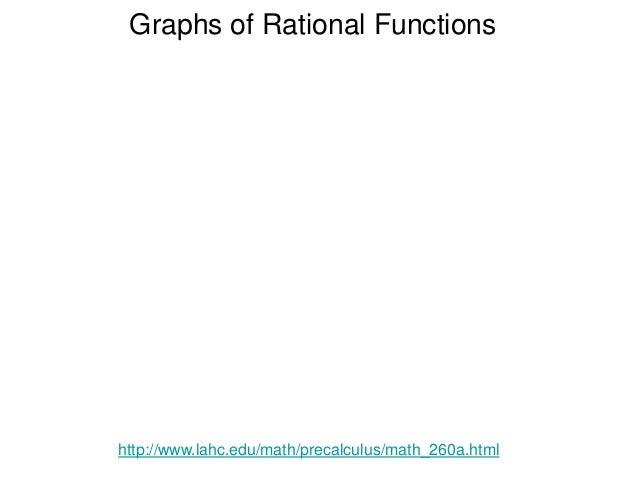 Graphs of Rational Functions http://www.lahc.edu/math/precalculus/math_260a.html