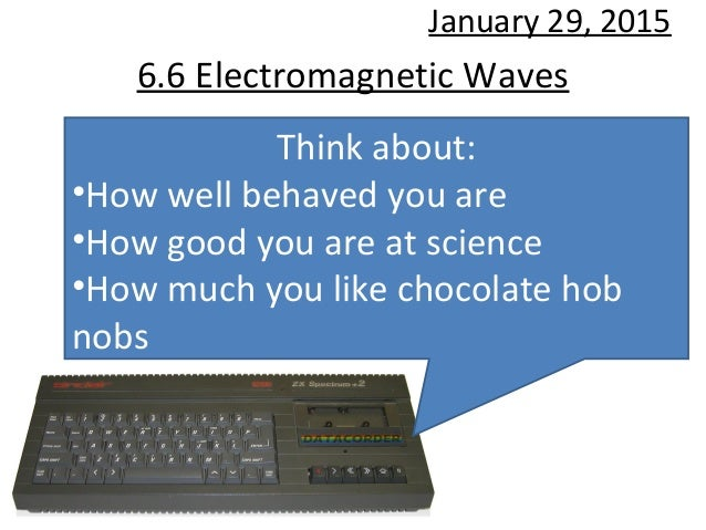 6.6 Electromagnetic Waves January 29, 2015 Think about: •How well behaved you are •How good you are at science •How much y...
