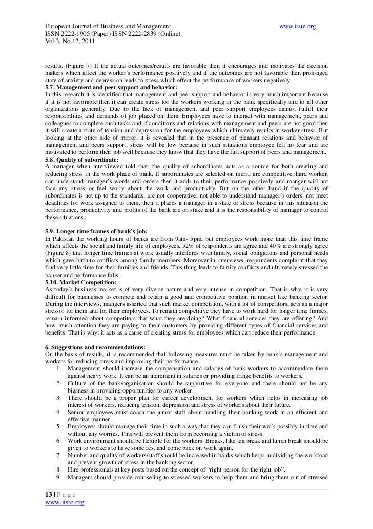 stress and job performance pdf