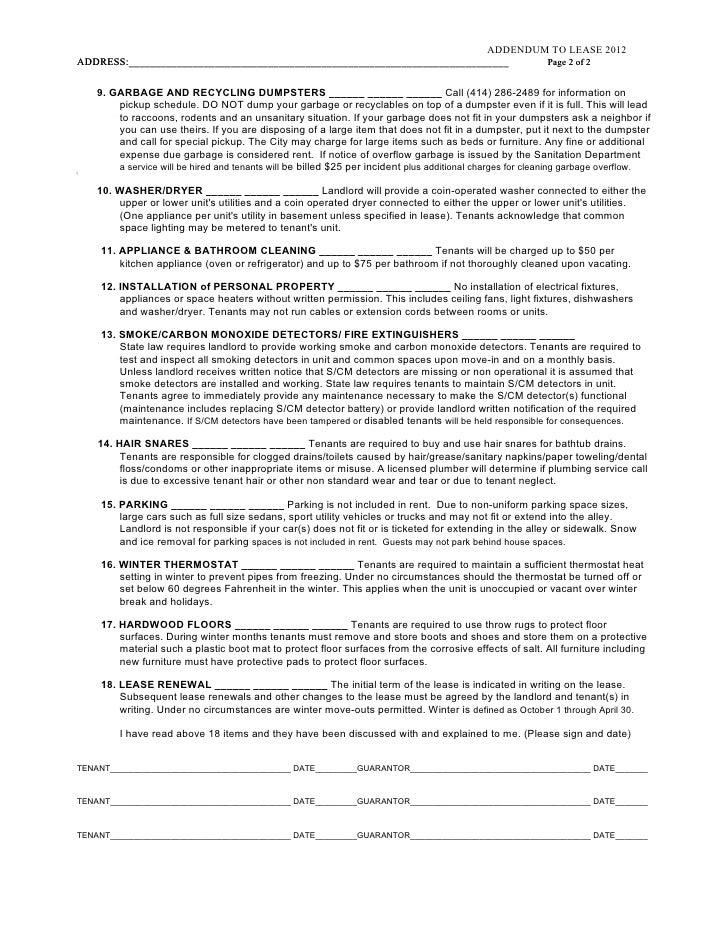 2. addendum to lease june 2012 2013