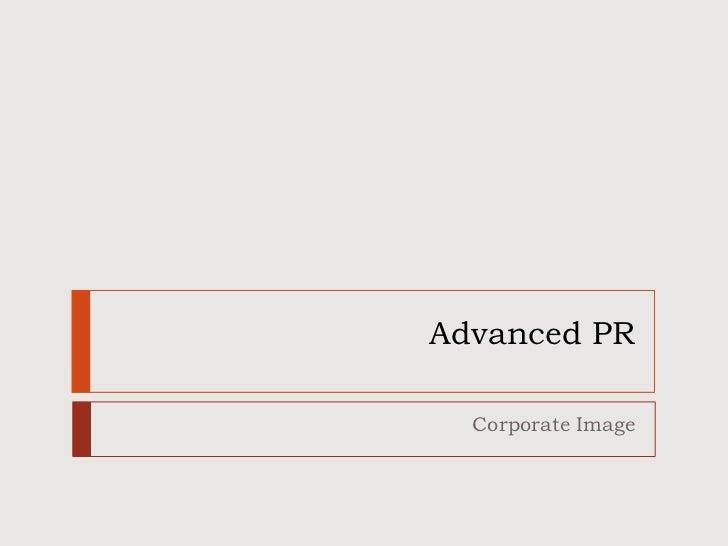 Advanced PR  Corporate Image