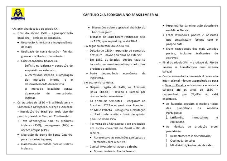 CAPÍTULO 2: A ECONOMIA NO BRASIL IMPERIAL                                                                                 ...