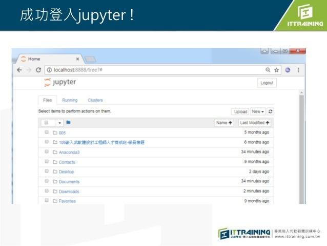 成功登入jupyter !