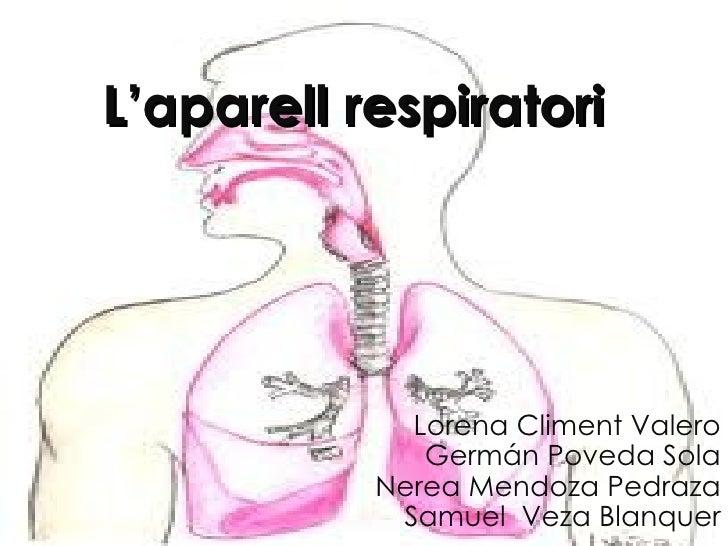 L'aparell respiratori             Lorena Climent Valero              Germán Poveda Sola           Nerea Mendoza Pedraza   ...