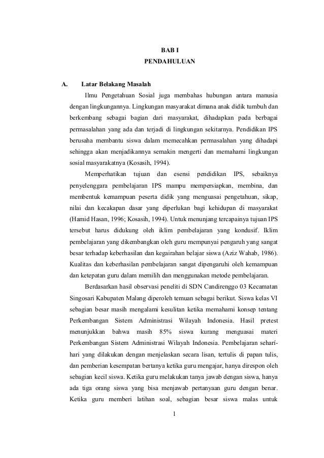 BAB I PENDAHULUAN A. Latar Belakang Masalah Ilmu Pengetahuan Sosial juga membahas hubungan antara manusia dengan lingkunga...