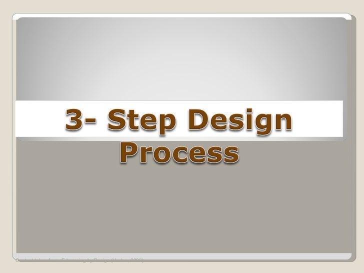 3 step design process