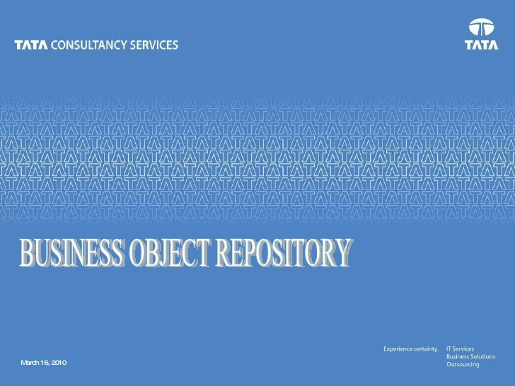 BUSINESS OBJECT REPOSITORY