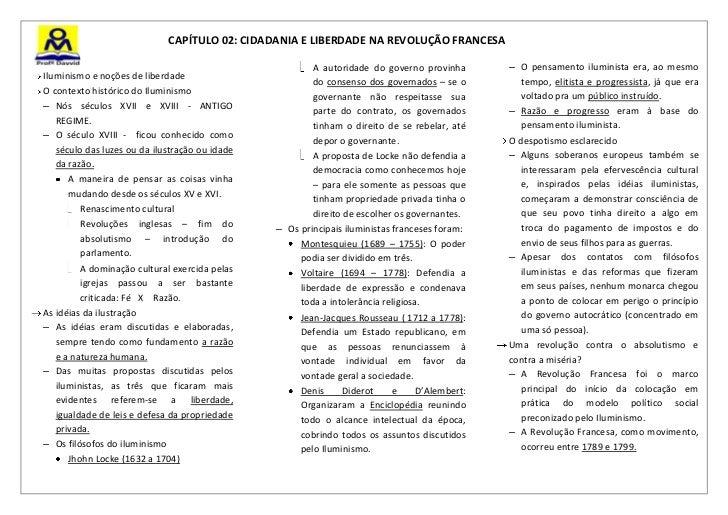 CAPÍTULO 02: CIDADANIA E LIBERDADE NA REVOLUÇÃO FRANCESA                                                        A autorida...