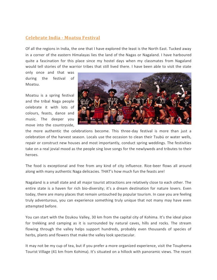 Celebrate India - Moatsu FestivalOf all the regions in India, the one that I have explored the least is the North East. Tu...