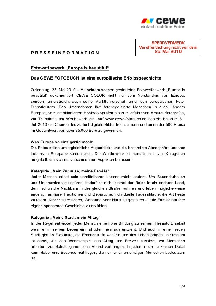 SPERRVERMERK                                                            Veröffentlichung nicht vor demPRESSEINFORMATION   ...