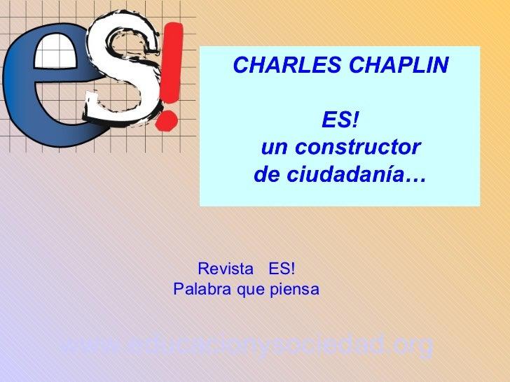 Revista  ES! Palabra que piensa www.educacionysociedad.org