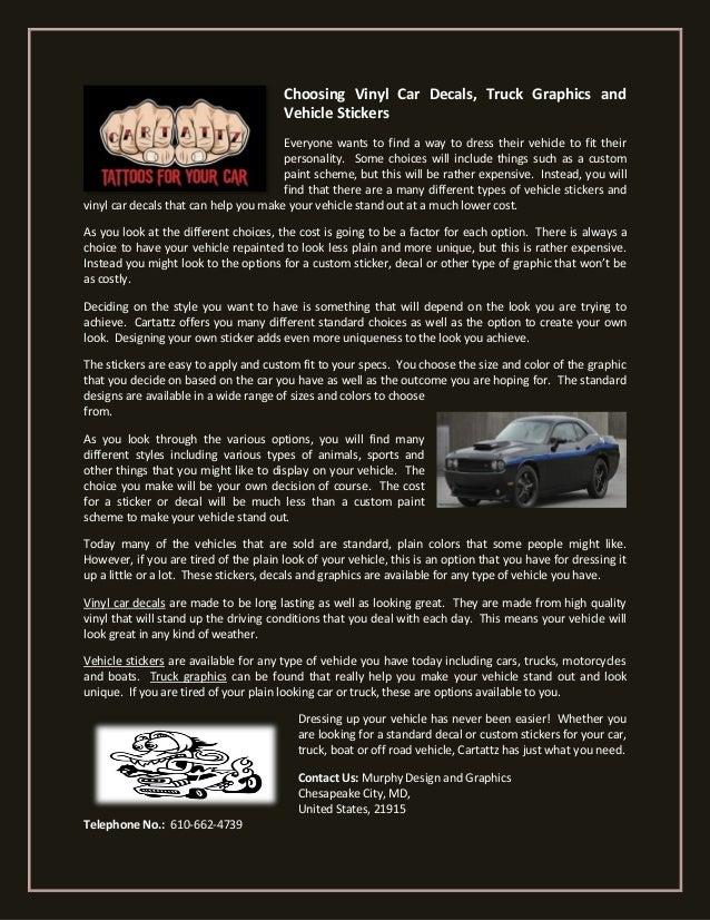 Choosing vinyl car decals truck graphics and
