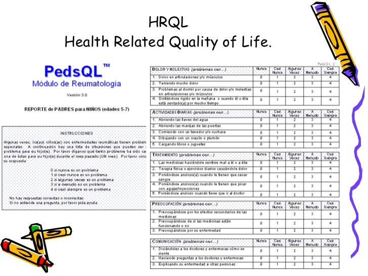HRQL Health Related Quality of Life.