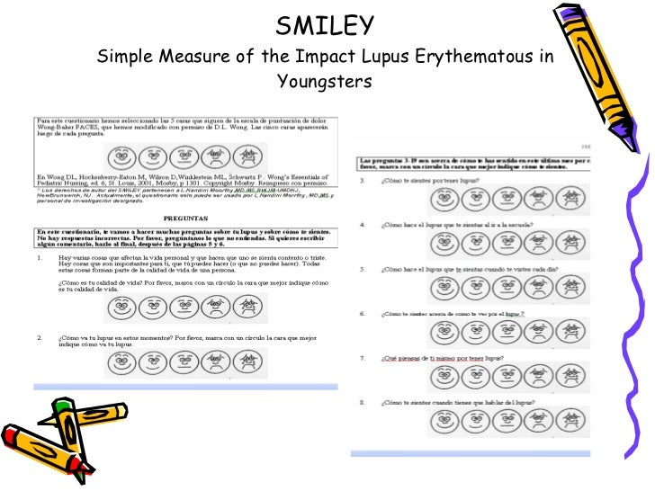 SMILEY Simple Measure of the Impact Lupus Erythematous in Youngsters