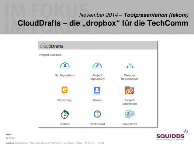 Seite 1  09.11.2014  Georg Eck Geschäftsführer, Adobe Certified Expert, WebWorks University Coach | Adobe | WebWorks | Tet...
