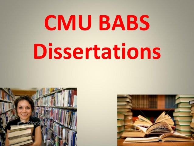 Cmu phd thesis