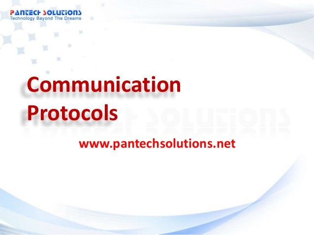Communication Protocols www.pantechsolutions.net