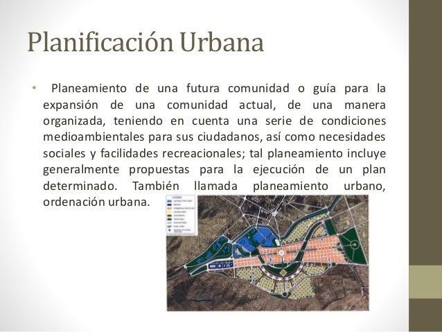 Icas de la planificacion urbana