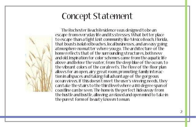 Concept statement interior design