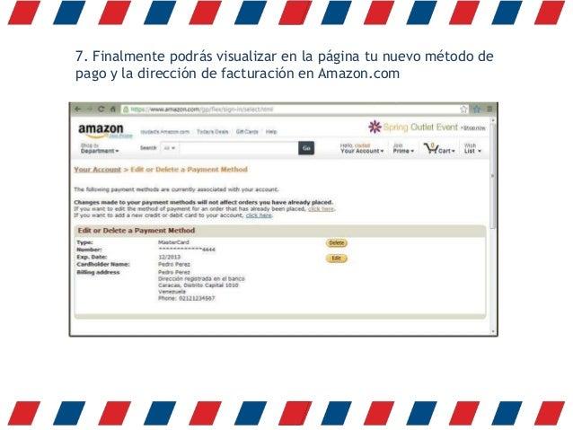 Metodos Pago Amazon España