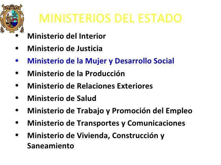 Del peru for Ministerio interior y justicia intranet