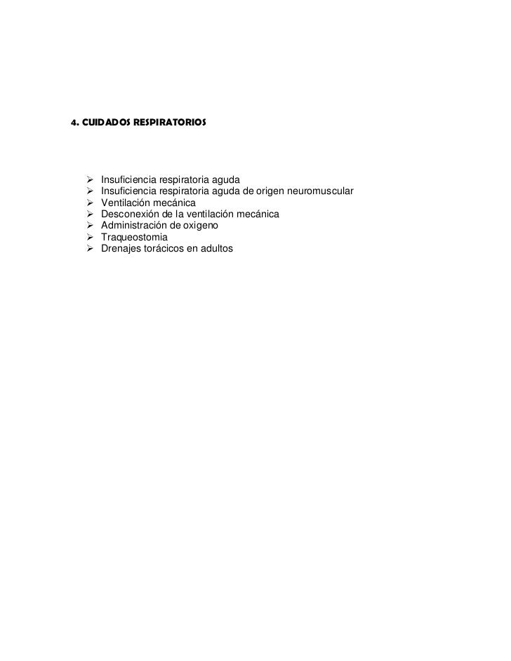 4. CUIDADOS RESPIRATORIOS<br />Insuficiencia respiratoria aguda<br />Insuficiencia respiratoria aguda de origen neuromuscu...