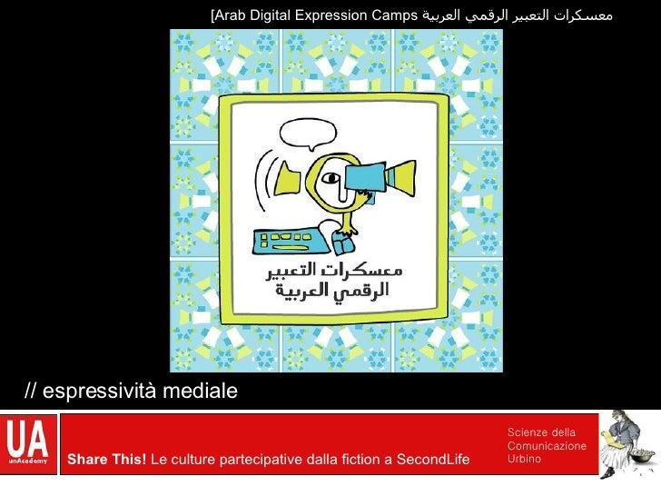 // espressività mediale [Arab Digital Expression Camps  معسكرات التعبير الرقمي العربية
