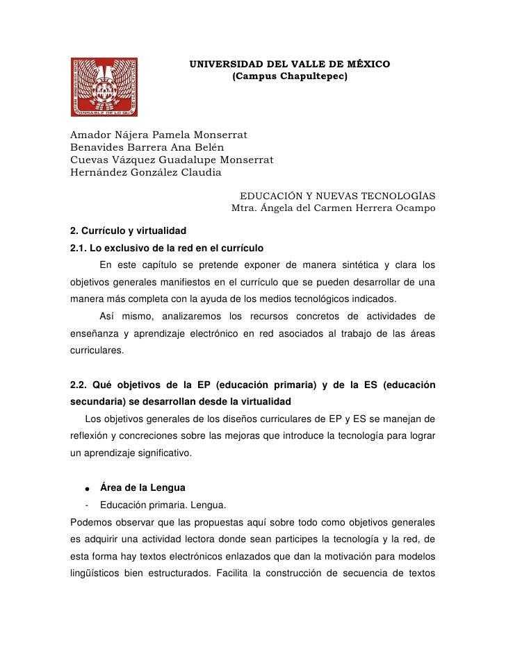 15240-4445UNIVERSIDAD DEL VALLE DE MÉXICO<br />(Campus Chapultepec)<br />Amador Nájera Pamela Monserrat<br />Benavides Bar...