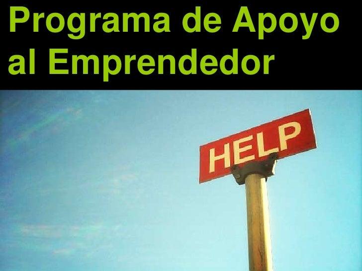 Programa de Apoyoal Emprendedor