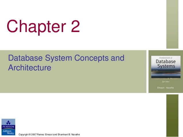 Chapter 2 Database System Concepts and Architecture  Copyright © 2007 Ramez Elmasri and Shamkant B. Navathe