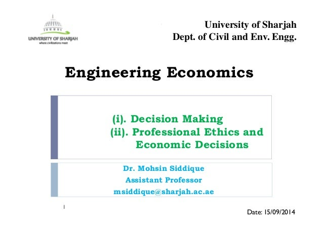 how economic decisions are made Economic models help managers and economists analyze the economic decision-making process each model relies on a number of assumptions, or basic factors that are present in all decision.