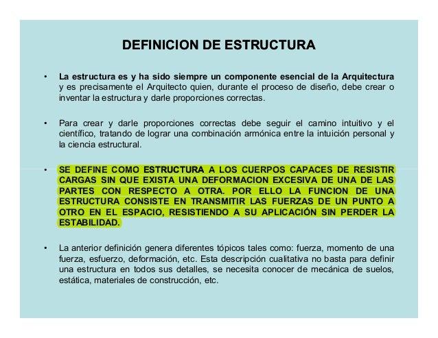 2 definicion de estructura for Que es arquitectura definicion