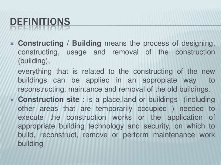 building construction class 2 definitions